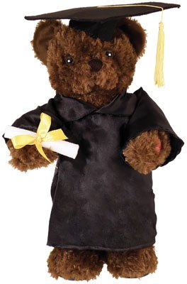"Graduation Chantilly Lane 14″ Dancing & Singing Bear To The Song ""I Got You (I Feel Good)"" Written by James Brown"