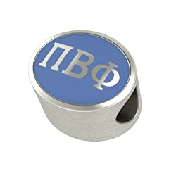 Pi Beta Phi Enamel Sorority Bead Charm Fits Most European Style Bracelets. High Quality Bead in Stock for Fast Shipping