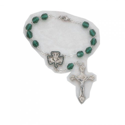 Catholic 7mm Irish Auto Rosary Carded, 7mm Irish Auto Rosary/carded