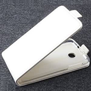 Flip PU Leather Magnetic Protective Case For Lenovo A376-White