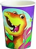 Vasos desechables con dise�o de dinosaurios, 0,2 L, 8 pcs