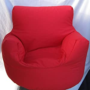 Cotton Red Bean Bag Arm Chair Seat * by Hallways Household Textiles Ltd