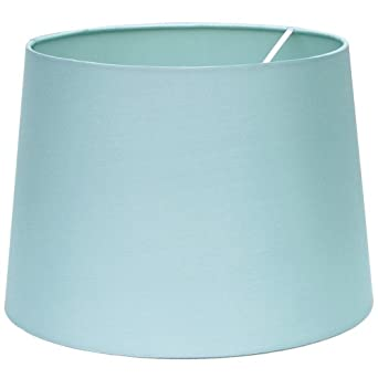 "16"" Tapered Cylinder Baby Blue Silk Shade"
