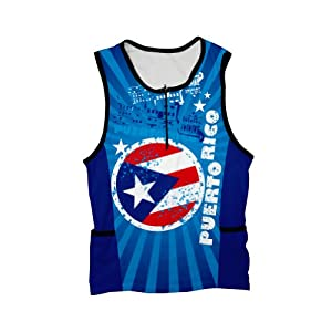 Buy Puerto Rico Triathlon Top for Women by ScudoPro