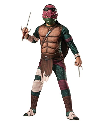 Kid's Teenage Mutant Ninja Turtles Deluxe Muscle Chest Raphael Costume Bundle
