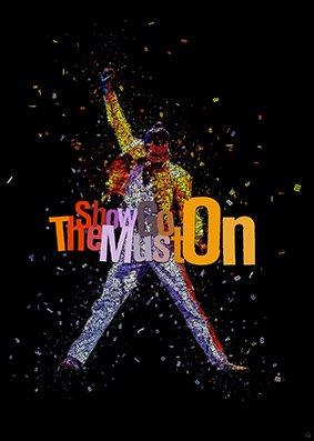 Imagenation Queen Freddie Mercury 'The Show Must Go On' professionale 260gsm Seta Art Stampa Fotografica, senza cornice, Carta/carta fotografica, 700mm X 1000mm