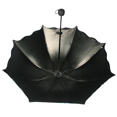 kilofly Anti-UV Folding Travel Parasol Vintage Floral Rain Sun Shade Umbrella 1