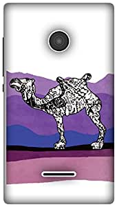The Racoon Grip Camel Stories hard plastic printed back case / cover for Microsoft Lumia 532