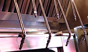 Restaurant Fire Suppression System for 4ft - 8ft Exhaust Hood