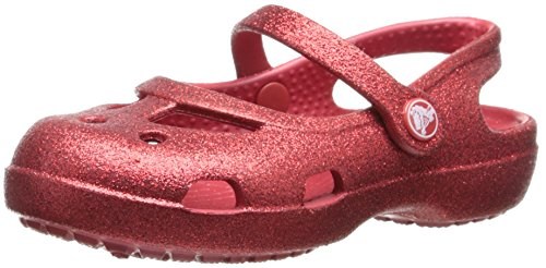 Crocs Kids 14478 Shayna Glitter Mary Jane ,Pepper,13 M US Li