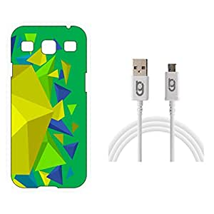 Designer Hard Back Case for Samsung Galaxy S3 Neo with 1.5m Micro USB Cable