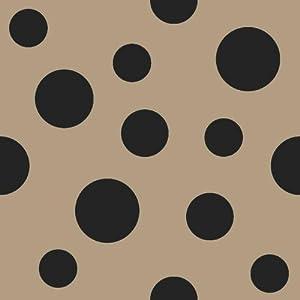 "Scattered Dots (Polka Dot) Printed Burlap ~ Natural ~ 100% Jute ~ 47"" (119 cm) Wide ~ ONE YARD CUT"