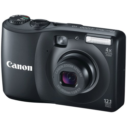Cyber Monday Canon Powershot A1200 12.1 MP Digital Camera with 4x Optical Zoom (Black) Deals