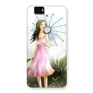 Cute Umbrella Princess Multicolor Back Case Cover for Google Nexus-6P