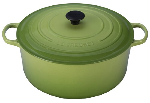 Le Creuset Signature Enameled Cast-Iron 13-1/4-Quart Round French (Dutch) Oven, Palm (Le Creuset Small Dutch Oven compare prices)