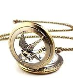 BeautyLife Die Tribute von Panem - Uhr Anhaenger Halskette Spotttölpel Kette Taschenuhr Hunger Games