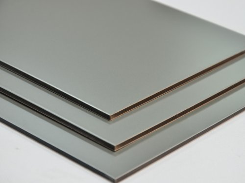 Aluminium Verbundplatte - 3mm - SILBER/METALLIC - 0,2mm - 200mm x 200mm