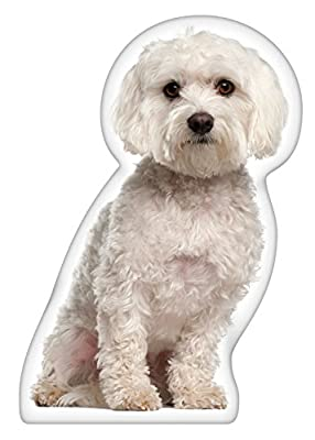 iLeesh Maltese Shaped Pillow