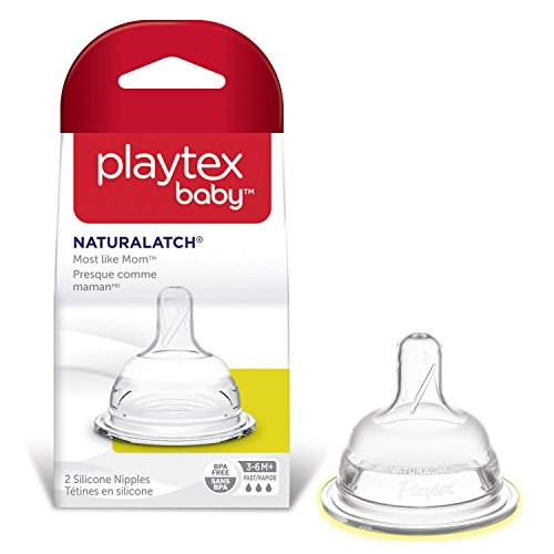 Playtex NaturaLatchNipple, Fast Flow, 2-Count (Playtex Baby Liners compare prices)