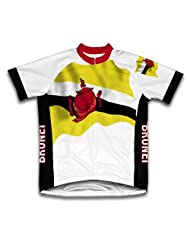 Brunei Flag Short Sleeve Cycling Jersey for Women