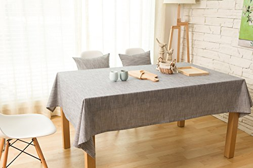 KINGDESON Cotton Polyester Rectangle Solid Color Simple Design Tablecloth Polyester Multi Size