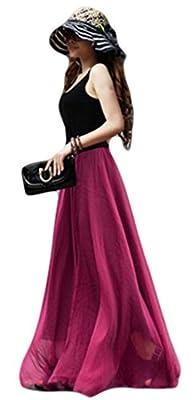 Beauty Girl Women Fashion Bohemia Style Beach Flowy Hem Long Skirts