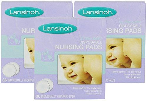 Lansinoh Ultra Soft Disposable Nursing Pads, 36 Count (3 Pack)