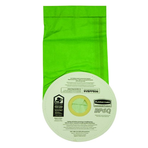 Rubbermaid Commercial Fg9Vbppb06 6-Quart Replacement Paper Bag For Backpack Vacuum Cleaner, Pack Of 10 front-631444