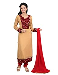 SHARMILI GEORGETTE EMBROIDERED STRAIGHT STITCHED SALWAR SUIT