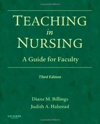 By Diane M. Billings EdD RN FAAN, Judith A. Halstead DNS RN ANEF: Teaching in Nursing: A Guide for Faculty (Billings, Teaching in Nursing: A Guide for Faculty) Third (3rd) Edition
