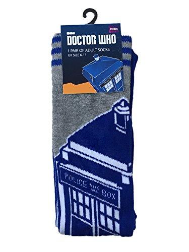 bbc-calzini-di-doctor-who-con-disegno-della-tardis-taglia-uomo-39-44
