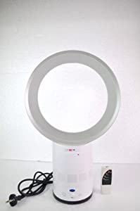 """Bladeless Fan Air Purify Round Shaped 10"""" Table Fan With Remote Color   Silver available at Amazon for Rs.3899"""