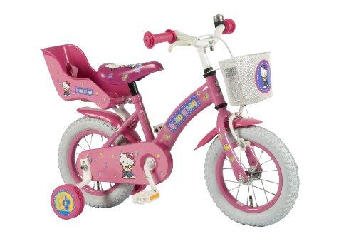 Hello Kitty Fahrrad 12 Zoll - Kinderfahrrad - Für Kinder ab 3 Jahren - Lizenzfahrrad