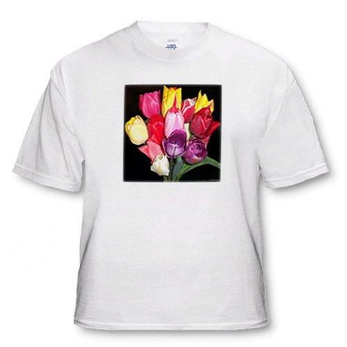 Multi-colored Tulip Bouquet - White Infant Lap-Shoulder Tee (12M)