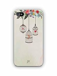YuBingo Birds in Cage Designer Mobile Case Back Cover for Apple iPhone 4S