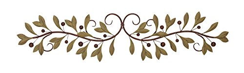Metal Olive Branch Over the Door Wall Decor 47 In. (Over Door Decor compare prices)