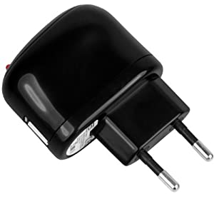 mumbi Universal USB Netzteil 220V schwarz 1000mAh Ladegerät 5V 1A 100-240 Volt
