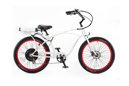 PEDEGO Electric Bicycle Classic Cruiser White/Red