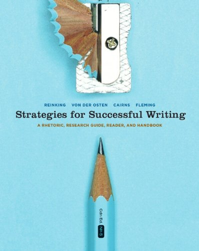 Strategies for Successful Writing: A Rhetoric, Research Guide, Reader, and Handbook, Fifth Canadian Edition (5th Edition
