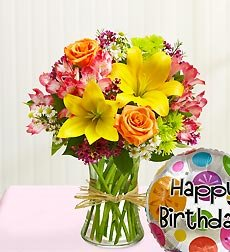 Flowers by 1800Flowers - Fields of Europe Happy Birthday - Small
