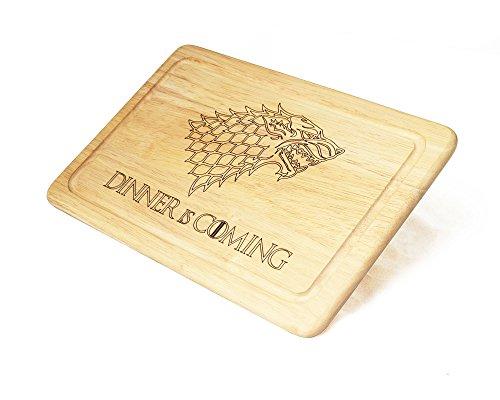 Game-of-Thrones-inspiriert-Dinner-Is-Coming-Schneidebrett-aus-Holz-Lasergravur