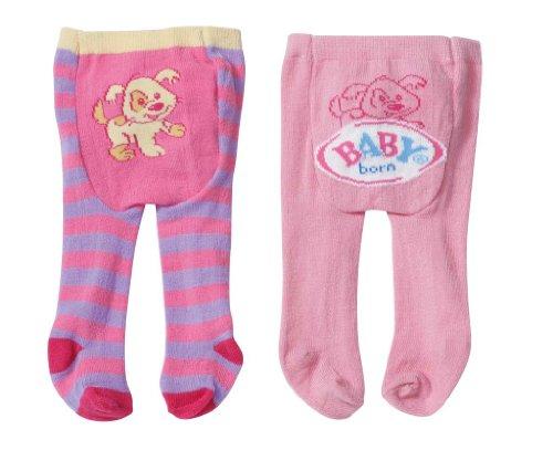 Zapf Creation 820063 - BABY born Strumpfhosen, gestreift, rosa/lila