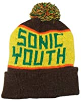Knit Hat: Sonic Youth Men's Yellow/Brown Size ONE SIZE