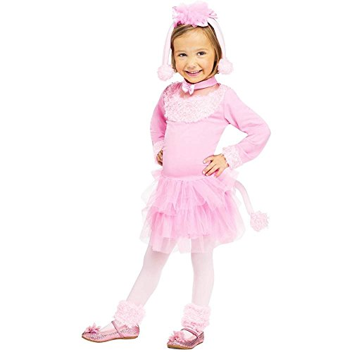 Pretty Pink Poodle Toddler Costume