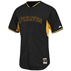 Pittsburgh Pirates Black BP Cool Base Jersey by Majestic by Majestic