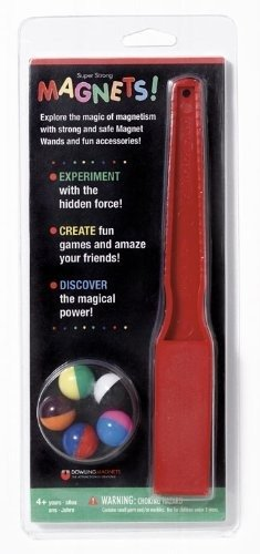 MAGNET WAND AND MARBLES by Dowling Magnets (Colors May Vary)