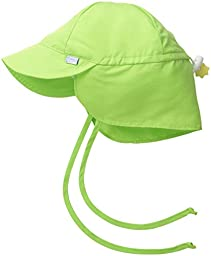 i play. Unisex Baby Solid Flap Sun Protection Hat, Lime, Toddler/2 4 Years