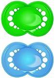 MAM 163111 - Classic Silikon 6-16, Schnuller, für Jungen, Doppelpack, farblich sortiert - BPA frei