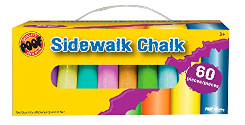 POOF 60-Piece Jumbo Sidewalk Chalk - 1