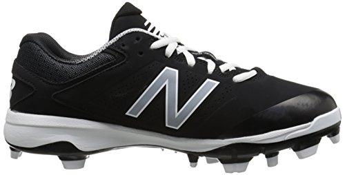 pictures of New Balance Men's PL4040V3 TPU Baseball Shoe, Black/White, 10.5 D US